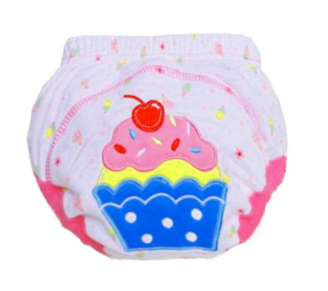 1Pcs Cute Baby Diapers, Reusable Nappies Cloth Diaper, Washable Cotton, Training Pants Panties