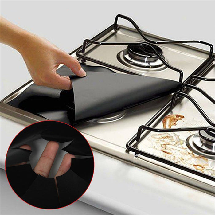 2pcs/lot Reusable Gas Range Stovetop Burner Protector Liner Cover For Cleaning Kitchen Tools