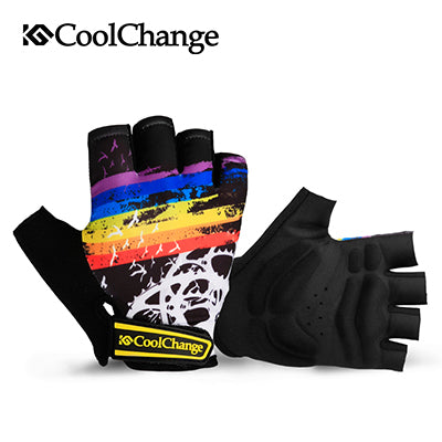 CoolChange Cycling Gloves Half Finger Mens Women's Summer Bicycle Sport Gloves Breathable Nylon MTB Bike Gloves