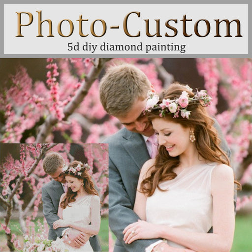 Photo Custom DIY 5D Diamond Embroidery Painting, Cross Stitch 3D, Square, Rhinestone Mosaic, Decoration Gift