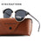EYECRAFTERS New Polarized Rimless Round Alloy Frame UV400 Sunglasses - Unisex