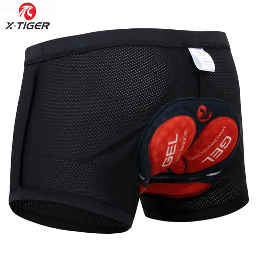 X-Tiger Men's Cycling Underwear Bicycle Mountain MTB Shorts Riding Bike Sport Underwear Compression Tights Shorts 5D Padded