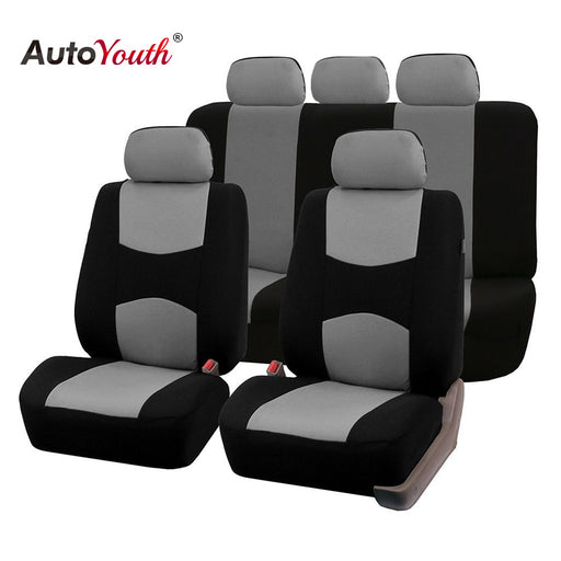 AUTOYOUTH Automobiles Seat Covers - Universal Fit Interior Accessories Protector (Color Gray Car-Styling)