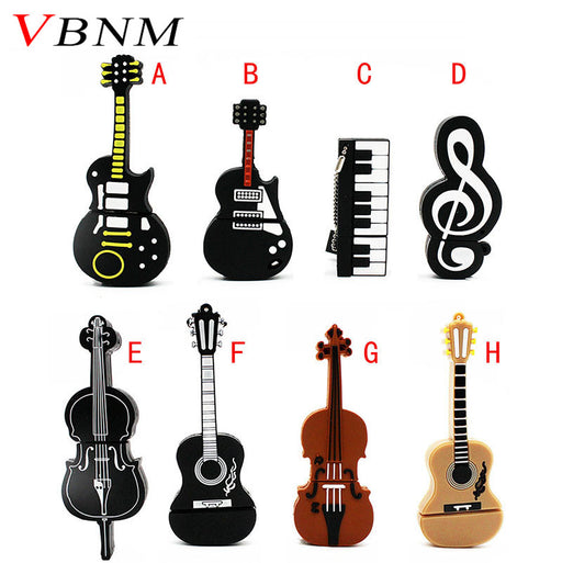 VBNM Music note pen drive  musical instrument usb flash drive pendrive 4GB 8GB 16GB 32GB cartoon memory stick U disk gift