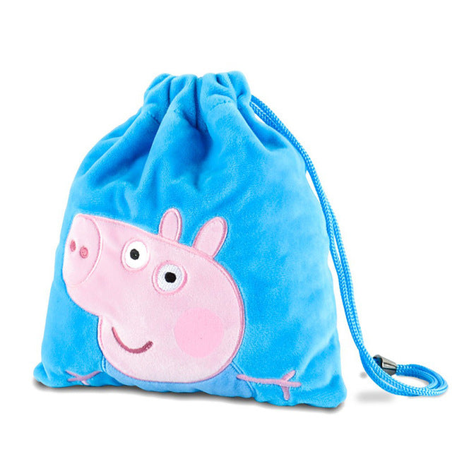 Genuine Peppa Pig George Pig Plush Toys Kids Girls Boys Kawaii Kindergarten Bag Backpack Wallet Money School Bag Phone Bag Dolls