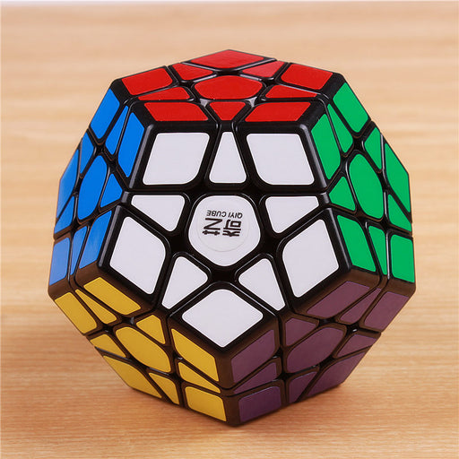 Qiyi Megaminx Magic Cube, Stickerless, 12 Sides Puzzle Cube, Educational Toys For Kids
