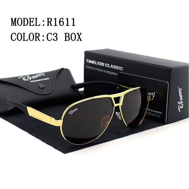 R.Bsunny Classic Oval Style Polarized Sunglasses with Alloy Frame & UV400 Protection Lens - R1611