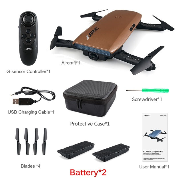 JJR/C JJRC H47 ELFIE Plus with HD Camera Upgraded Foldable Arm RC Drone Quadcopter Helicopter VS H37 Mini Eachine E56