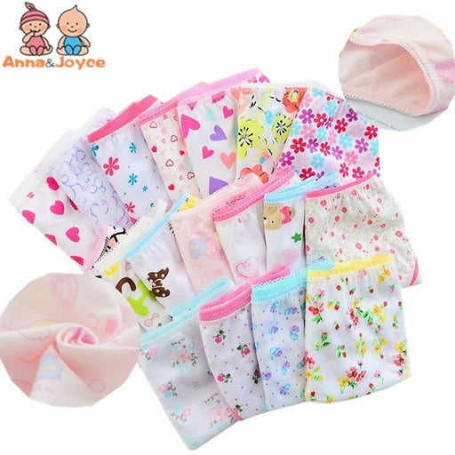 (12 Pieces/Lot) 100% Cotton Girls Underwear Children Briefs Girls Panties  Kids Underwear Tnn0001