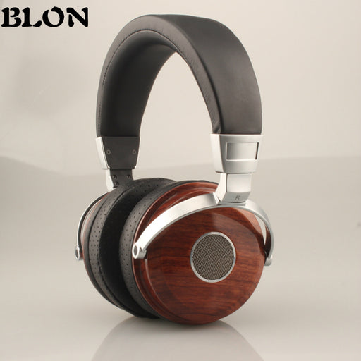 BLON BOSSHIFI B7 Wooden Over Ear Headset With Beryllium Alloy Driver Metal Headphones Mahogany DJ Music Games Earphones for PC
