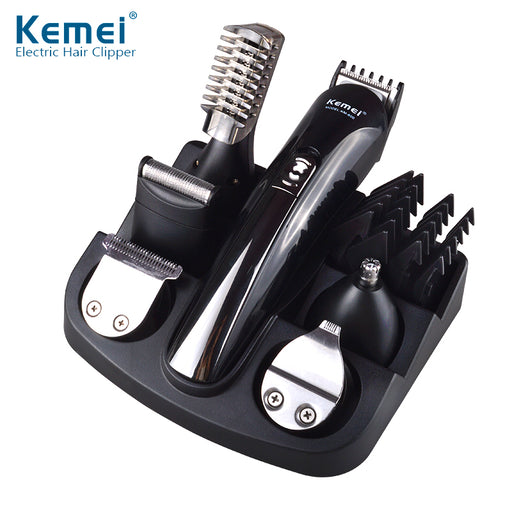 Kemei 6 in 1 Rechargeable Hair Trimmer, Titanium Hair Clipper, Electric Shaver & Beard Trimmer