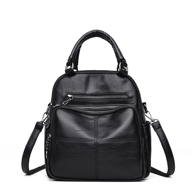 2018 New Fashion Women's Backpack, PU Leather High Quality School Bags