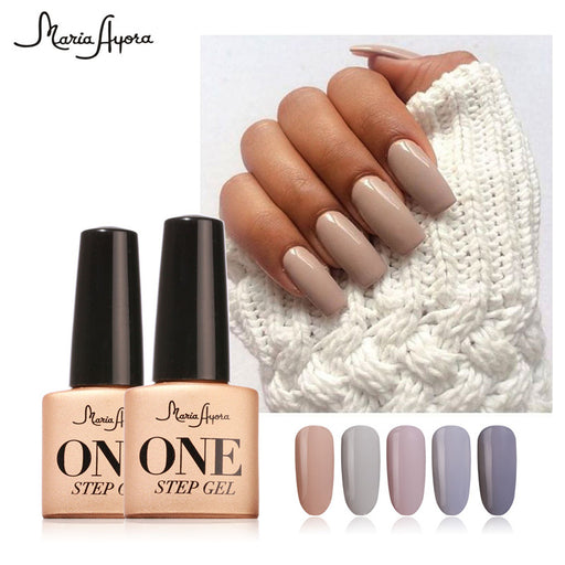 Maria Ayora One Step Nail Gel, 7ml, Long-lasting LED UV Lamp Nail Gel Polish Lacquer, Varnish no Base Top Coat Nail Art