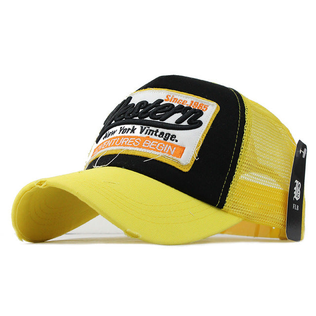 [FLB] Summer Baseball Cap Embroidery Mesh Cap Hats For Men & Women -  F207