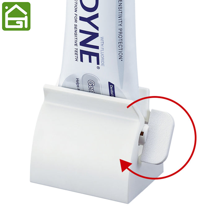 1x Delicate Bathroom Home Rolling Tube Holder Squeezer Toothpaste Dispenser