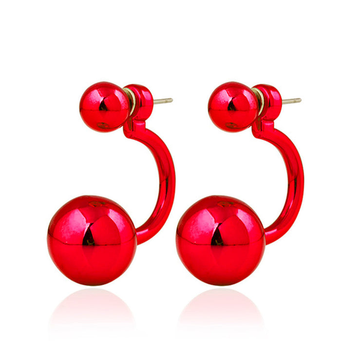 Girl Earrings Ear Stud Red