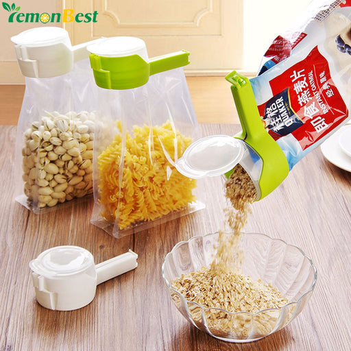 Food Plastic Bag Sealer, Food Storage Bag, Moisture-proof, Sealing Clip