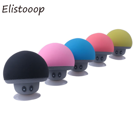 Elistooop Portable Mini Mushroom Wireless Bluetooth Speaker Waterproof Shower Stereo Subwoofer Music Player For iPhone Xiaomi