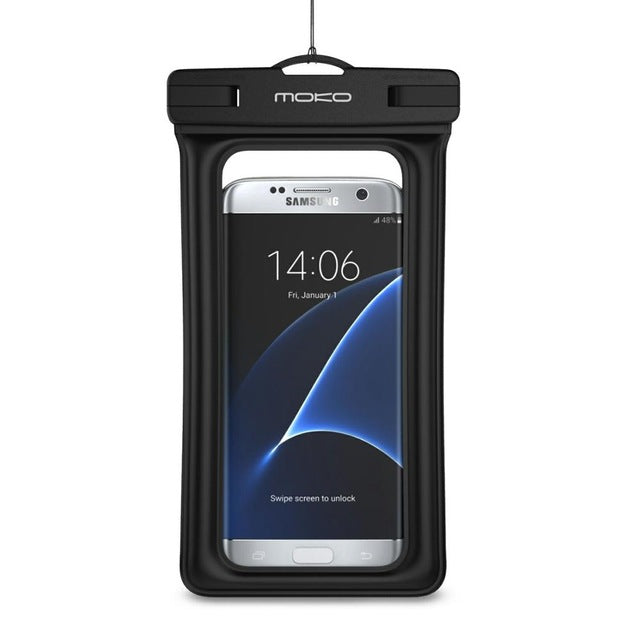 Universal Waterproof Phone Case,MoKo Multi-function CellPhone Dry Bag Pouch with Armband Feature & Neck Strap for iPhone X/8 Plus