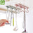 Kitchen Cupboard 6 Hook Organizer for Pantry  | Chest Tools, Towels Hanger, Wardrobe, Clothes Storage Shelf