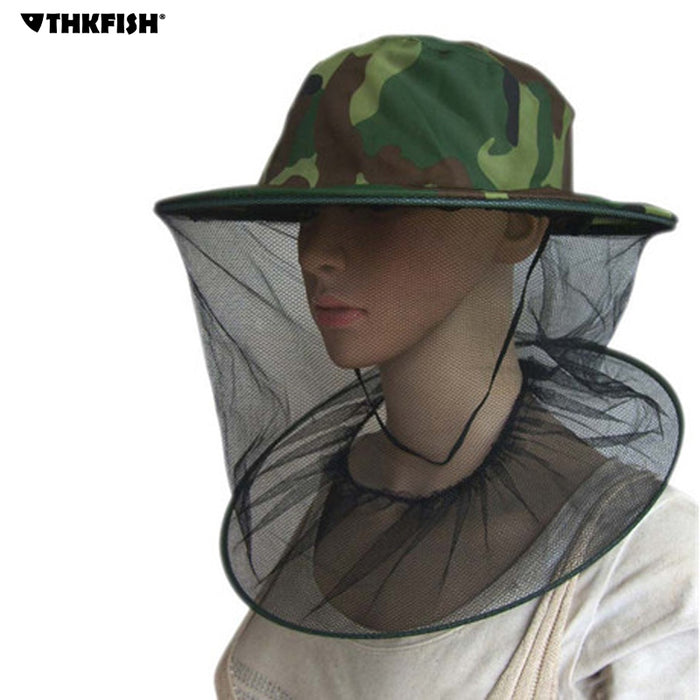 THKFISH Fishing Hat w/ Camouflage Beekeeping Gauze | Anti-Mosquito Hats  for Summer & Outdoor Use