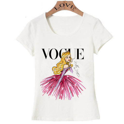 Vogue Punk Princess Print T Shirt 2016 Summer Fashion Women T-Shirt Funny Harajuku Short Sleeve Casual Tees Lovrly Tops