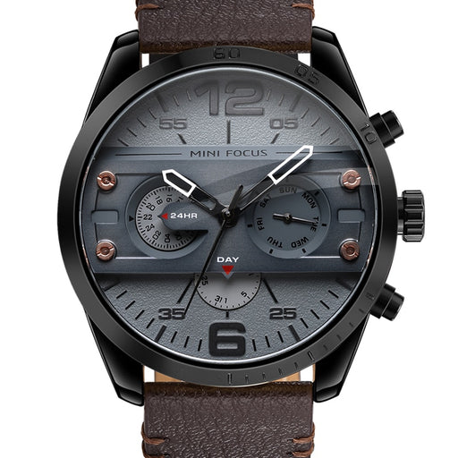 2018 Chronograph Men's Casual Sport Quartz Watch Mens Watches Top Brand Luxury Leather Strap Military Watch Wrist Male Clock
