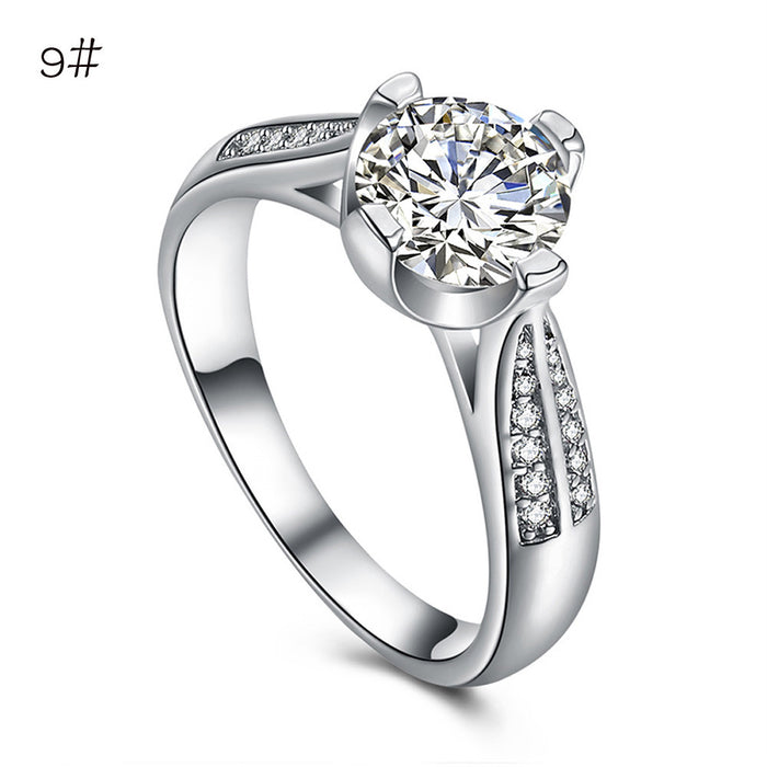 Flower Crystal Wedding Ring For Women Jewelry Accessories Rose Gold Gold Engagem