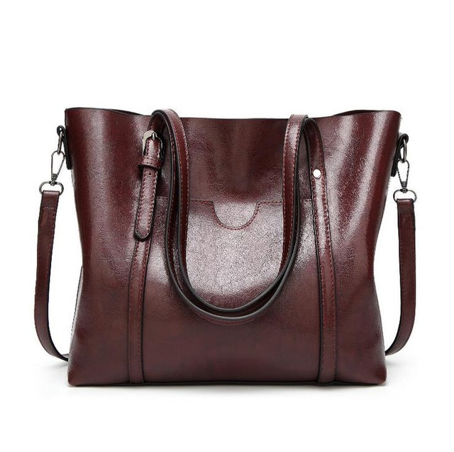 Women's Luxury Leather Handbags With Purse Pocket, Large Capacity, Versatile Fashion Handbags