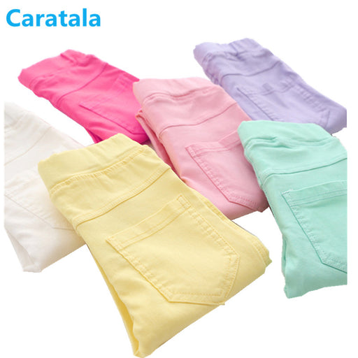 Caratala 8 Colors Good Quality Children Pants for Girls, Solid Candy Color, Causal For Girl's Leggings
