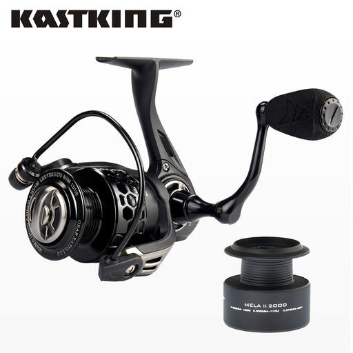 KastKing Mela II Upgrading Carbon Fiber Drag Spinning Reel with Extra Spool Freshwater Fishing Reel