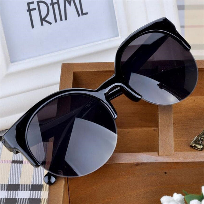 2016 New Fashion Retro Designer Super Round UV400 Cat Eye Women's Sunglasses