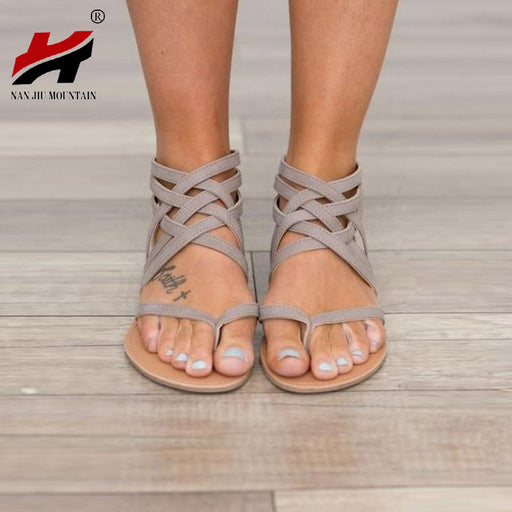 Plus Size 34-43 Women's Sandals 2017 New Fashion Casual Shoes, European Rome Style Flats