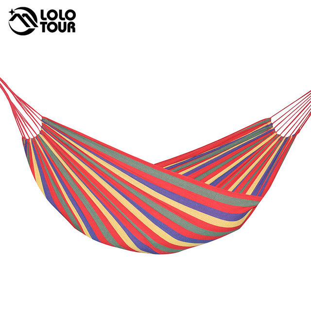 2 Person Hammock, Hanging Bed, Double Sleeping Canvas Swing for Camping & Hunting, 3 Color (240*150cm)