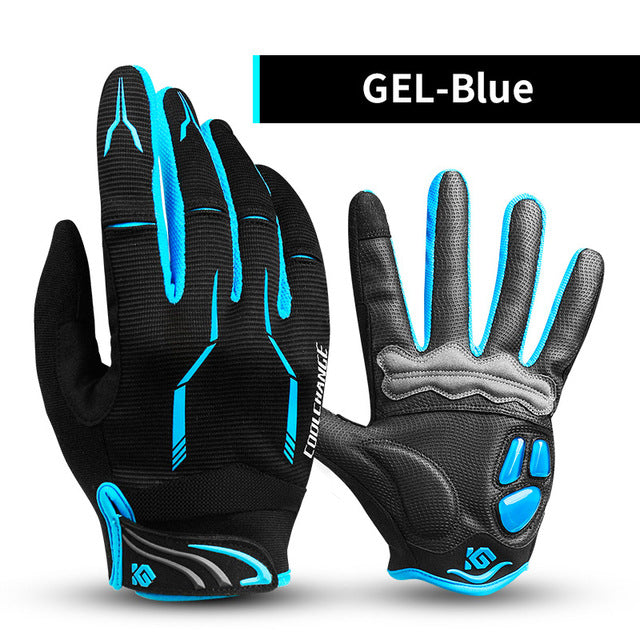 CoolChange Touch Screen Shockproof Cycling Gloves, Full Finger - Unisex