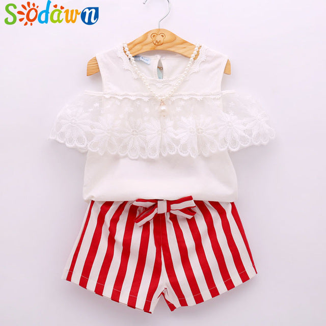 Sodawn Baby Girl's Clothes ,Summer Fashion Set, T-Shirt +Pants Pullover