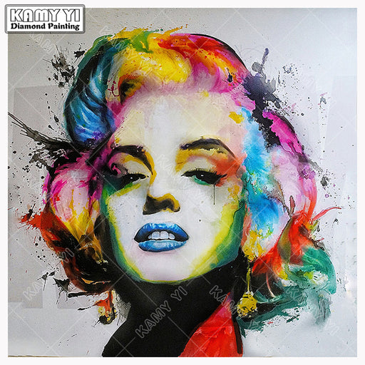 "Full Square 5D DIY Diamond Painting, Cross Stitch ""Marilyn Monroe"" Embroidery Rhinestone, Mosaic Decor Paintings Gift"