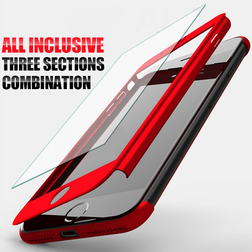ZNP 360 Degree Full Cover Case For iPhone 7 6 6s 8 Plus With Tempered Glass Cases For iphone 6 7 8 Plus 6s 5 5s Phone bag Case
