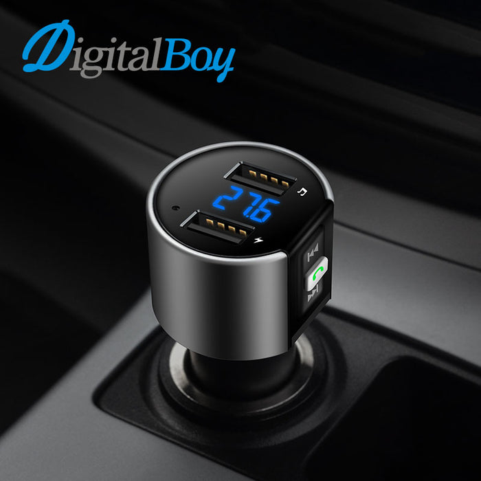 Digitalboy Bluetooth Handsfree Kit Car FM Transmitter Modulator Dual USB Charging Voltage Detection U Disk Music Car MP3 Player