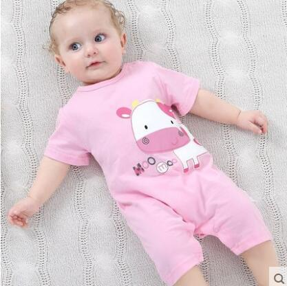 Summer Baby Bodysuits 0-24M Short Sleeve for Baby Girl / Boy Clothing