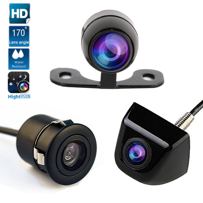 Universal Rear View Car Camera for Back Parking Monitor 170 Degree Adjustable Auto Camera Night Vision HD CCD Front