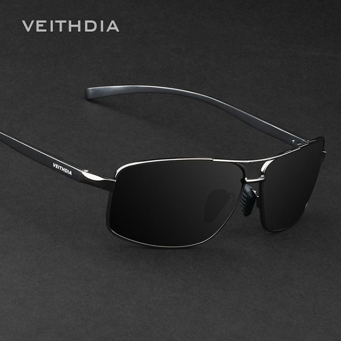 VEITHDIA New Polarized Unisex Sunglasses Aluminum Frame with Anti-Reflective,Polarized UV400 Lens - 2458
