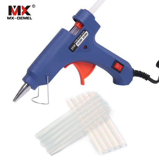 HILDA 20W EU Plug Hot Melt Glue Gun with 10pcs Glue Sticks Electric Silicone Guns