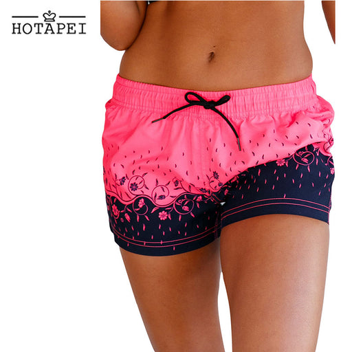 Hotapei Floret Printed Swim Shorts Surfing and Diving Quick Dry Shorts LC410280 Women 2018 new Swimming Water Sports Beach wear