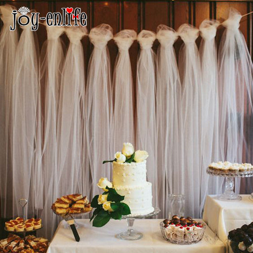 Tulle Roll 100 yard Wedding Decoration Tulle Outdoor Wedding Photography Wall Props BabyShower Gift Wrap Birthday Party  Favors