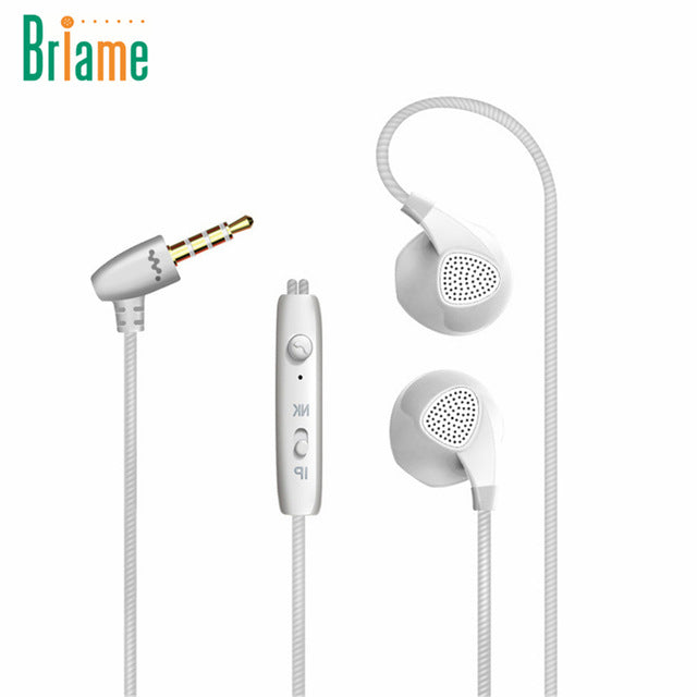 Briame Running Earphone Stereo Music Headset 3.5mm Jack Bass Sport Headphone With Microphone For iPhone 6 6S 5 5S Samsung Xiaomi