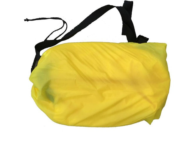 190T Banana Shape Beach Air Bed Inflatable Sofa Laybag, Fast Folding Sleeping Air Sofa for Lazy Bag