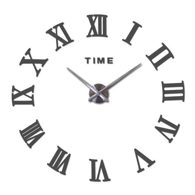 New 3D  Wall Clock for Home Decoration , Acrylic Special DIY Sticker for Living Room