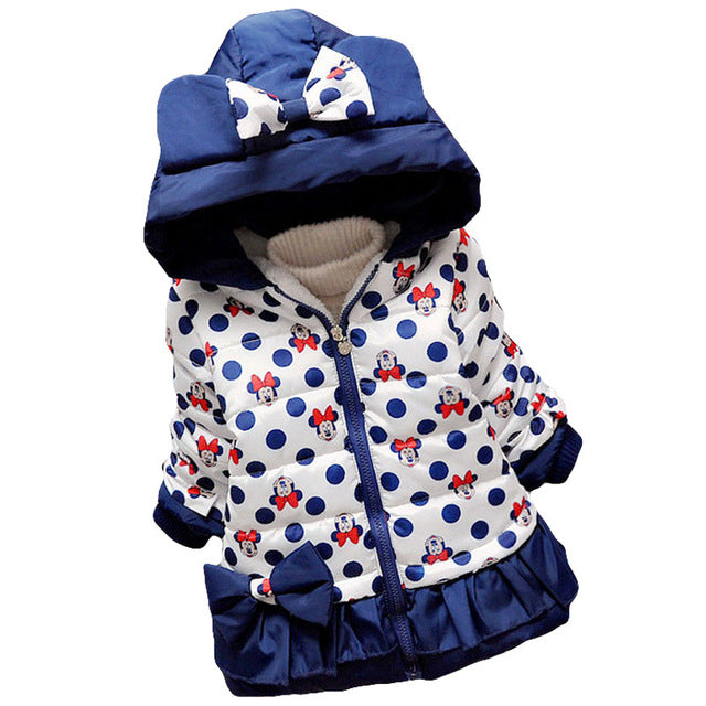 Baby Girls Jacket 2018 Autumn/ Winter, Jacket For Girls, Floral, Hooded Children Outerwear