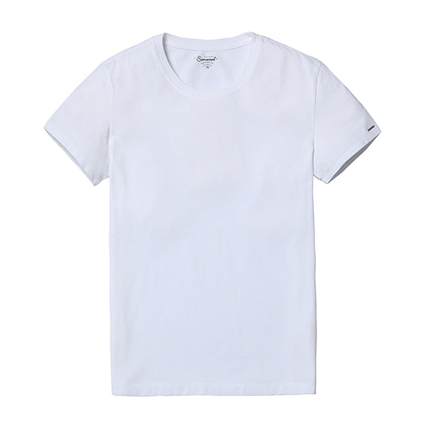 [SIMWOOD] 2018 New Men's T-Shirt , Slim Fit, Solid Color, Casual Tops 100%,Cotton, Plus Size TD017101